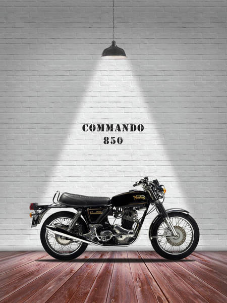 Wall Art - Photograph - Norton Commando 1974 by Mark Rogan
