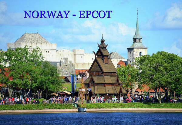 Epcot Center Wall Art - Photograph - Norway At Epcot Poster Work A by David Lee Thompson