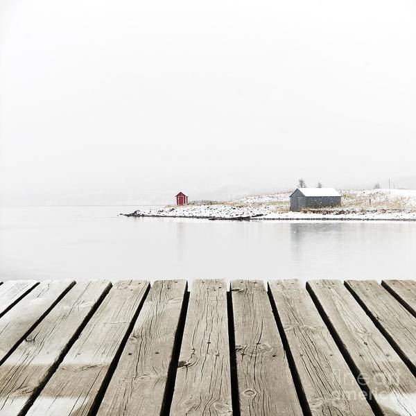 Wall Art - Photograph - Norway Cottage On Winter Coast With by Michal Bellan