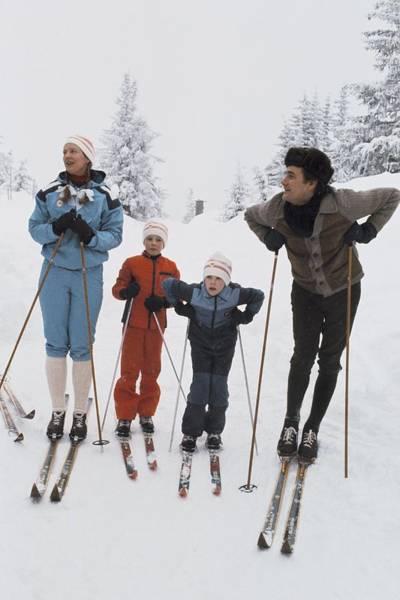 Enjoyment Photograph - Norway, Danish Royal Family Skiing by Keystone-france