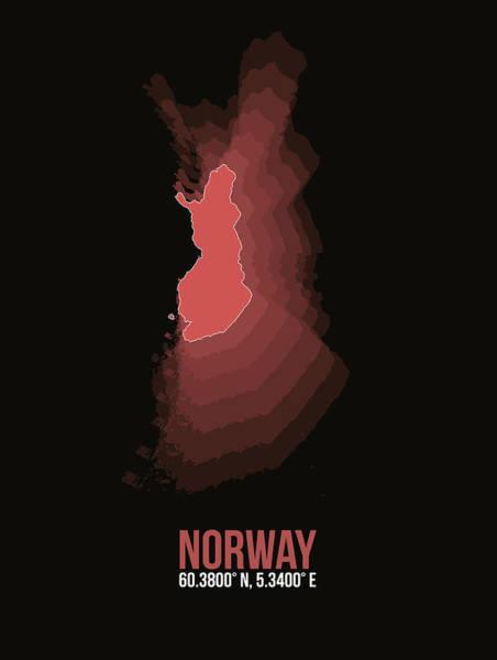 Wall Art - Digital Art - Norway Radiant Map 3 by Naxart Studio