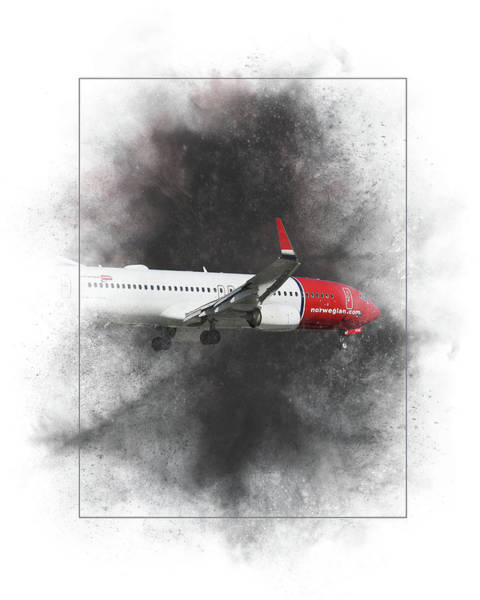 Wall Art - Mixed Media - Norwegian Boeing 737-8jp Painting by Smart Aviation