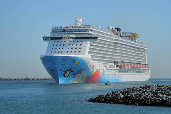 Photograph - Norwegian Breakaway Entering Port Canaveral by Bradford Martin