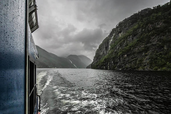 Photograph - Norwegian Fjord Scene   by Sven Brogren