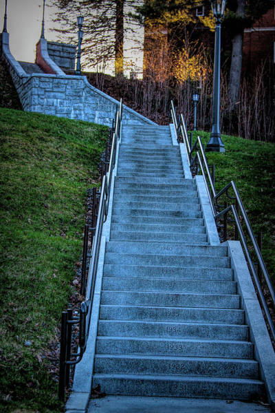 Photograph - Norwich University Centennial Stairs With Dates by Jeff Folger