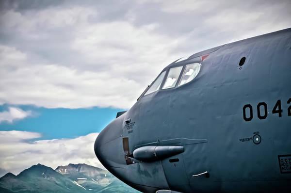 Elmendorf Photograph - Nose Of A B52 by Bob Lynn