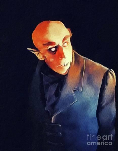 Horror Film Painting - Nosferatu by John Springfield