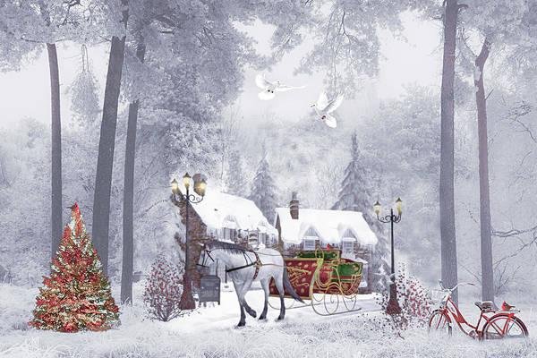Photograph - Nostalgic Christmas Buggy Ride  by Debra and Dave Vanderlaan