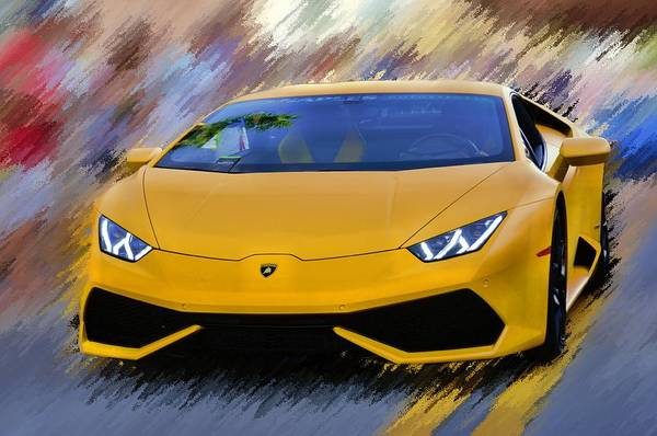 Photograph - Not So Mellow Yellow Lambo by Don Columbus