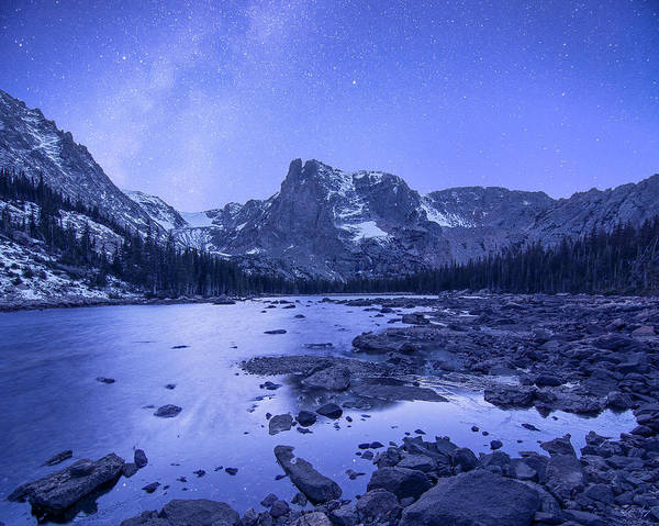 Photograph - Notchtop Mountain Stars by Aaron Spong