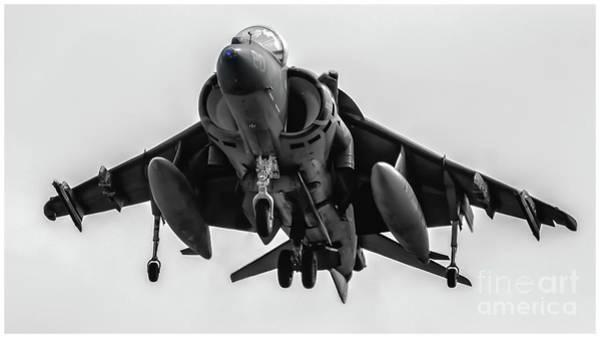 Elmendorf Photograph - Note The Av-8b Harrier's Blue Eye by Joe Kunzler
