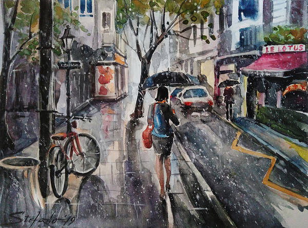 Painting - Nothing Better Than The Bad Weather by Stefano Popovski