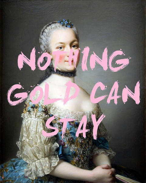 Digital Art -  Nothing Gold Can Stay Print by Georgia Fowler