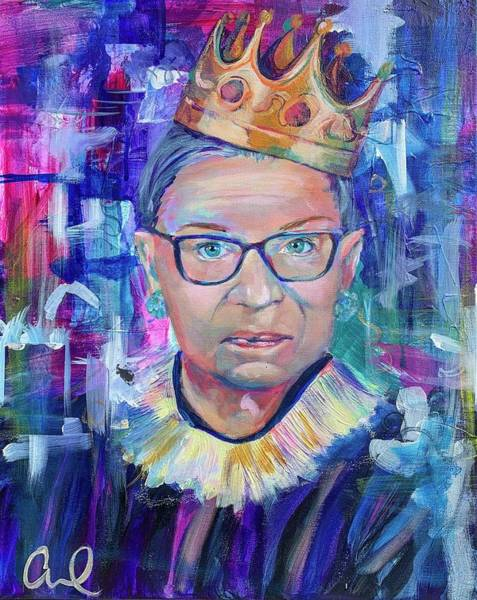 Justice Painting - Notorious Rbg by Christina Carmel