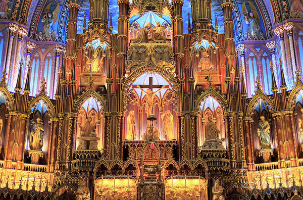 Photograph - Notre Dame Altar Montreal by John Rizzuto