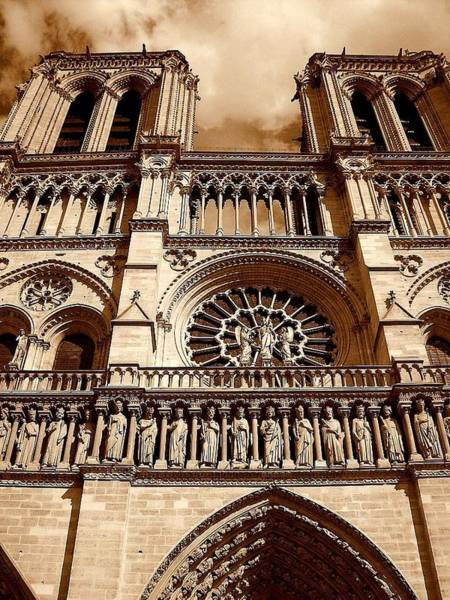 Photograph - Notre Dame Cathedral Drama by Chance Kafka