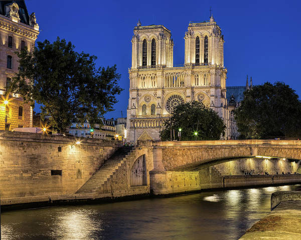 Photograph - Notre Dame Cathedral Evening by Jemmy Archer