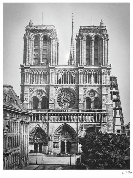 Wall Art - Photograph - Notre-dame Cathedral In The 1860s by Daniel Sicolo