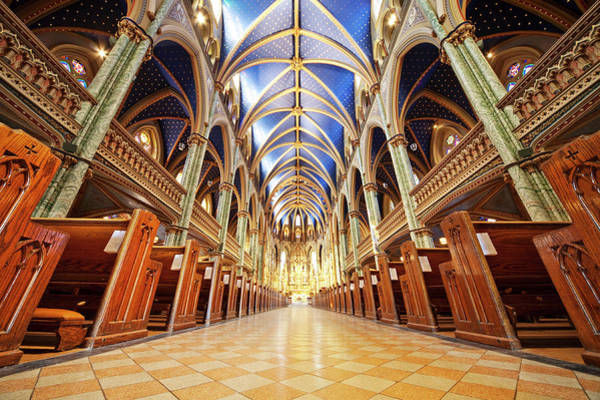 Quebec City Photograph - Notre Dame Cathedral Ottawa by Bertlmann