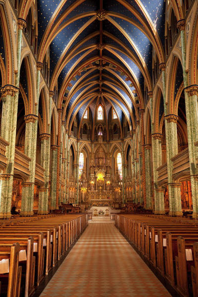 Church Photograph - Notre Dame Cathedral Ottawa by Pgiam
