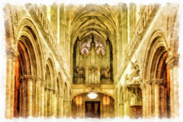 Painting - Notre Dame Cathedral Paris Interior by Matthias Hauser