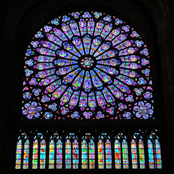 Wall Art - Photograph - Notre Dame Cathedral South Transept Rose Window by Stephen Stookey