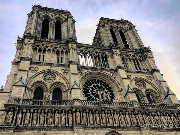 Photograph - Notre Dame Cathedral Western Facade by Luther Fine Art