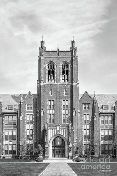 Wall Art - Photograph - Notre Dame College Administration Building Tower by University Icons