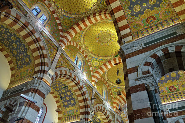 Photograph - Notre-dame De La Garde Cathedral Interior by Angelo DeVal