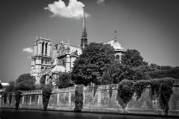 Photograph - Notre Dame De Paris Before The Fire Of 2019 Bw by RicardMN Photography