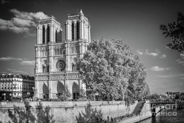 Wall Art - Photograph - Notre Dame De Paris, Black And White by Delphimages Photo Creations