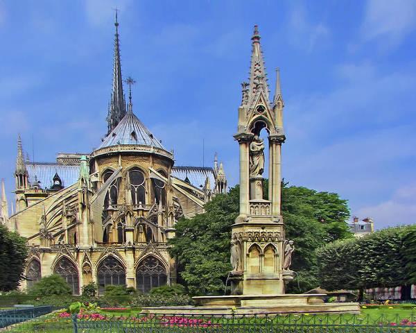 Wall Art - Photograph - Notre Dame De Paris - Fountain Of The Virgin by Nikolyn McDonald