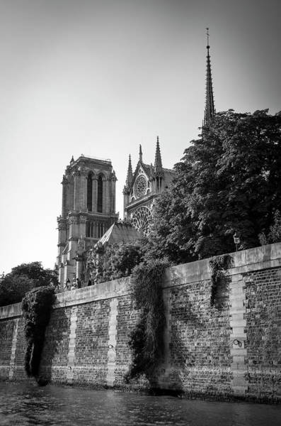 Photograph - Notre Dame De Paris From The Seine Before The Fire Of 2019 Bw by RicardMN Photography
