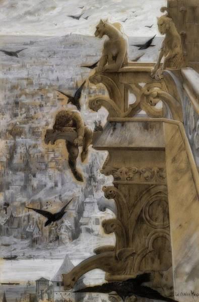 Wall Art - Painting - Notre Dame De Paris by Luc-Oliver Merson