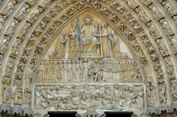 Photograph - Notre Dame De Paris - Tympanum Of The Last Judgment  by RicardMN Photography