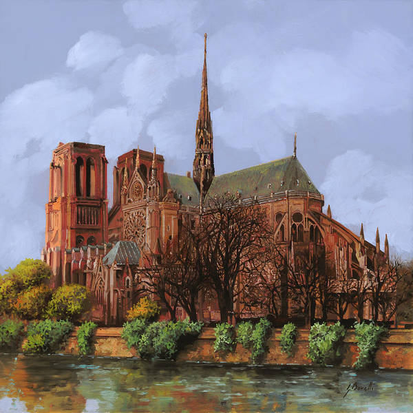 Painting - Notre-dame by Guido Borelli