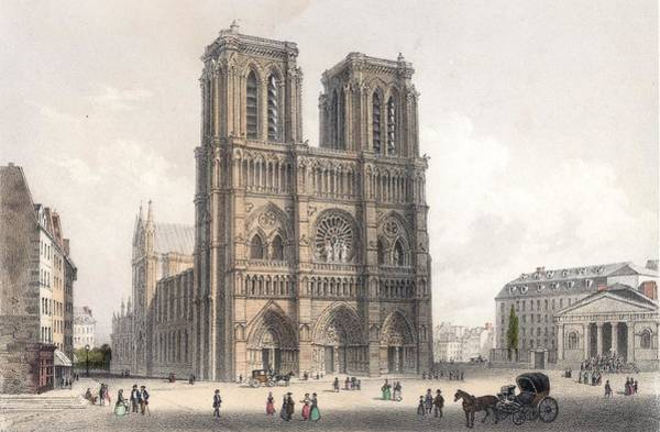 Famous Places Digital Art - Notre Dame by Hulton Archive