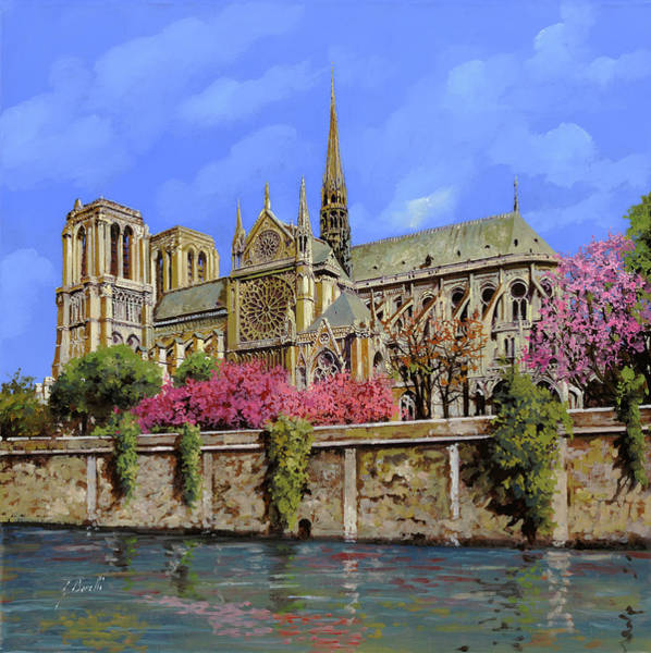 Wall Art - Painting - Notre Dame In Primavera by Guido Borelli