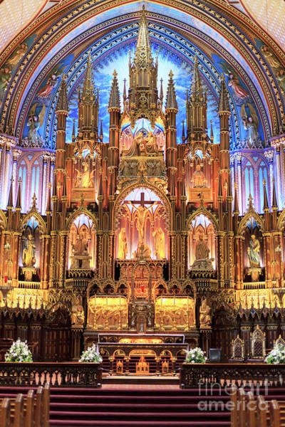 Quebec City Photograph - Notre Dame Interior Montreal by John Rizzuto