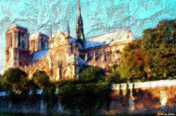 Digital Art - Notre Dame Late In The Day by Rein Nomm