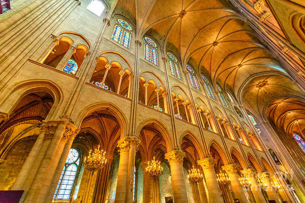 Photograph - Notre Dame Nave by Benny Marty