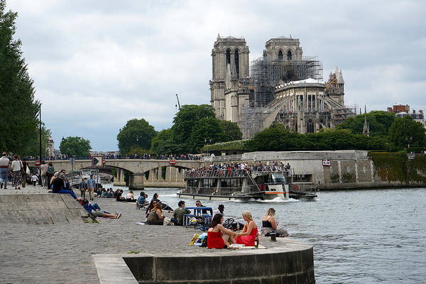 Photograph - Notre Dame Ruins 1 by Andrew Fare