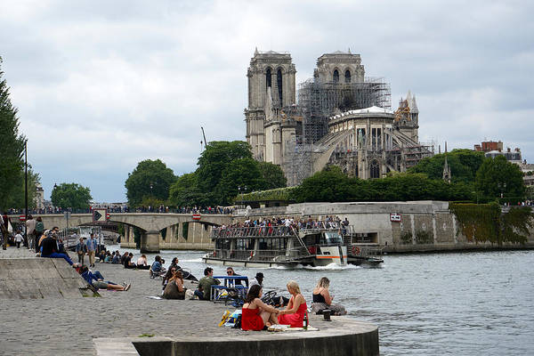 Photograph - Notre Dame Ruins 2 by Andrew Fare