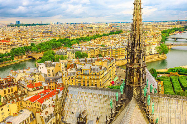 Photograph - Notre Dame Spire Close Up by Benny Marty