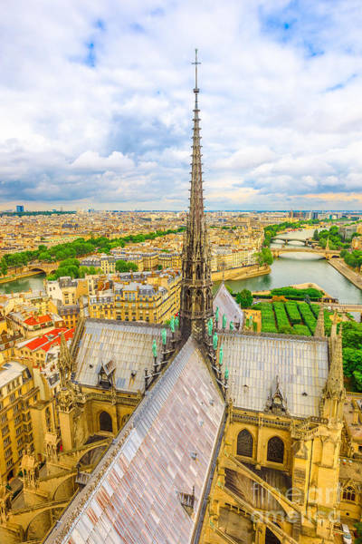 Photograph - Notre Dame Spire Vertical by Benny Marty