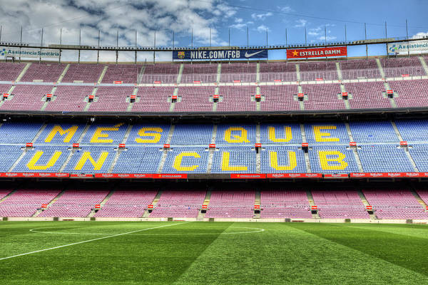 Wall Art - Photograph - Nou Camp Stadium Barcelona by David Pyatt