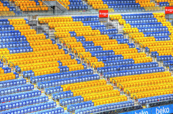 Wall Art - Photograph - Nou Camp Stadium Barcelona Seating  by David Pyatt