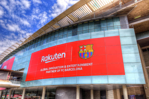 Wall Art - Photograph - Nou Camp Stadium Barcelona View by David Pyatt