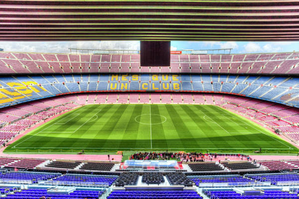 Wall Art - Photograph - Nou Camp Stadium by David Pyatt