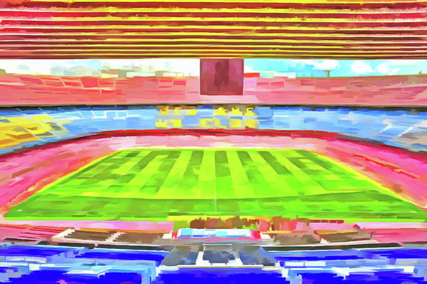Wall Art - Photograph - Nou Camp Stadium Pop Art by David Pyatt